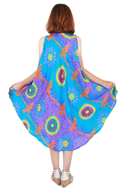 Fashion Bohemian Casual Beach Sundress Round Size XS-XXL up to 3X ...