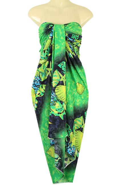 3baa82535f90c Sweet Shell Design Sarong Pareo Skirt Sea Dress Beach Wrap Cover-up ...