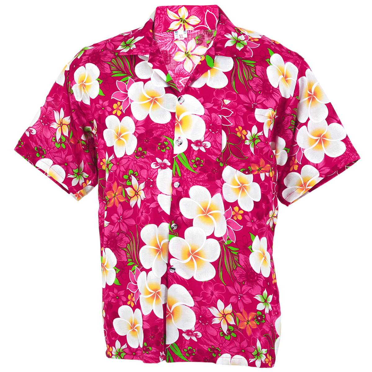 Hawaiian Shirt Aloha Big Chaba Hibiscus Holiday Sea Beach Pink L Hc258p
