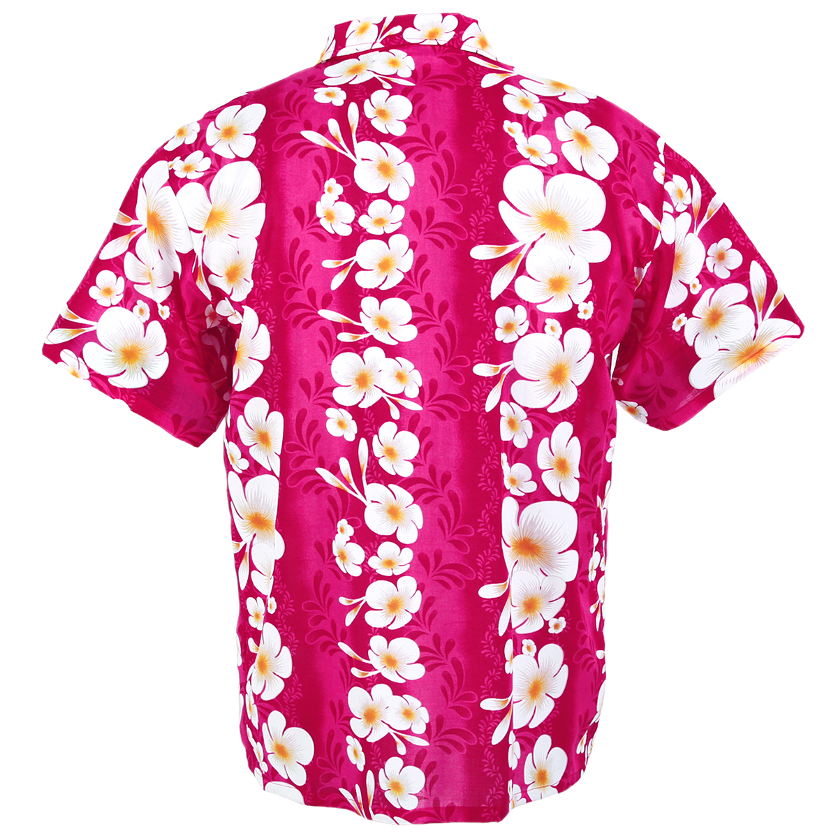 Hawaiian Shirt Aloha Big Hibiscus Stripe Holiday Beach Pink Xxl Hf260p